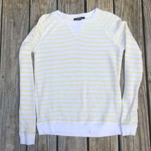 Forever 21 S white and yellow striped sweatshirt